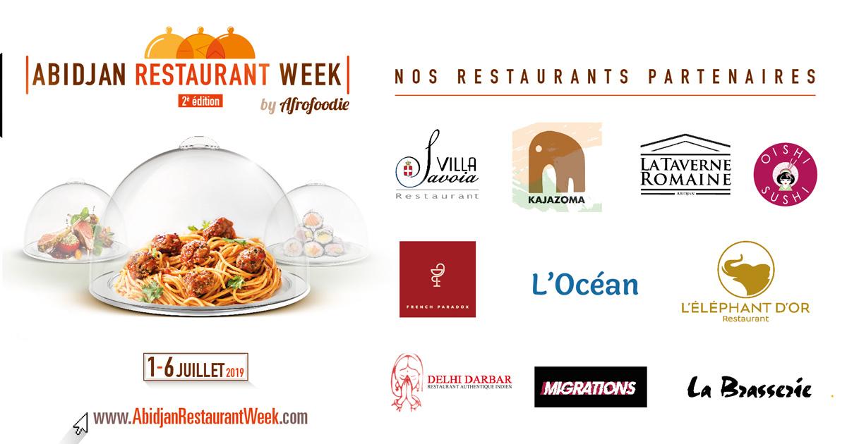 Les Restaurants partenaires d'Abidjan Restaurant Week 2019